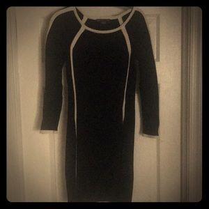 Armani Exchange black knit dress